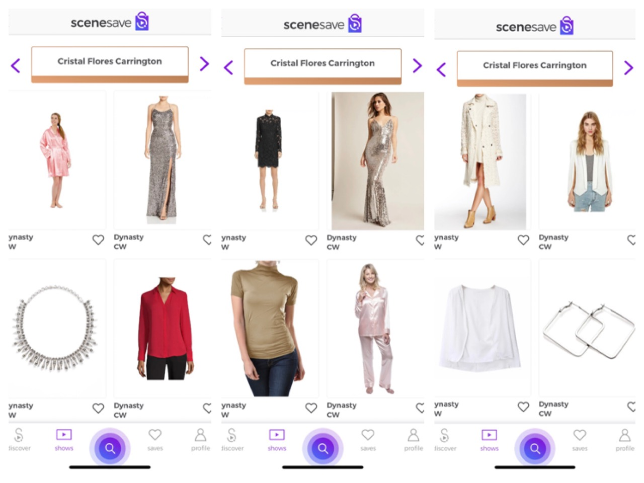 Download SceneSave  to shop these outfits!