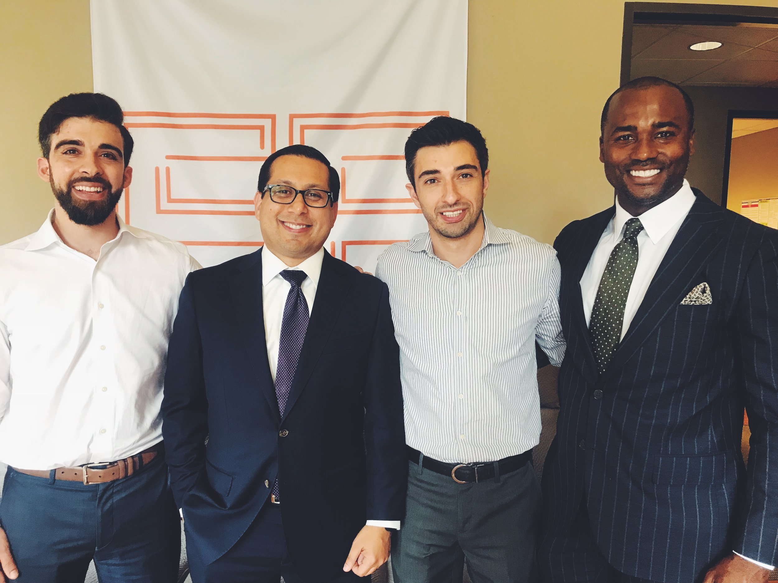 (L-R)Easy Expunctions CEO Yousef Kassim, State Rep. Diego, Bernal (D-San Antonio), Easy Expunctions CMO Rommy Kassim, and Bingham Group Founder CEO A.J. Bingham)