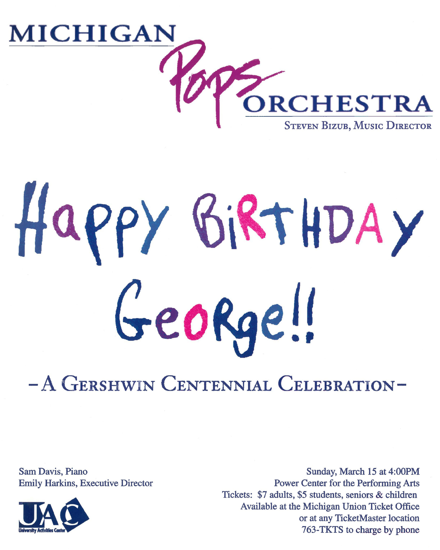 HAPPY BIRTHDAY GEORGE!  March 15, 1998*