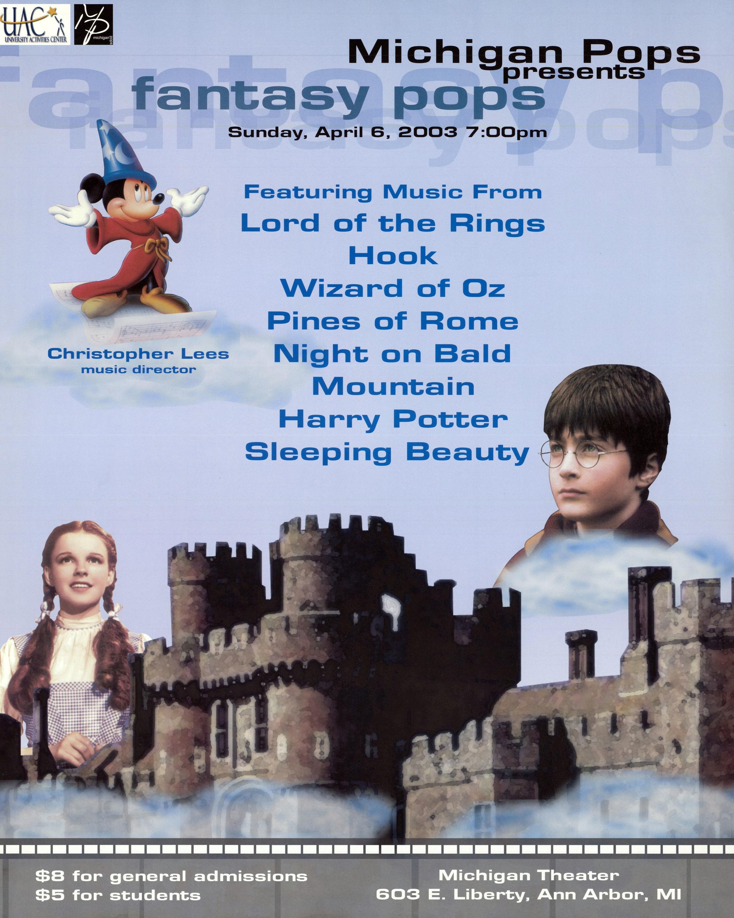 FANTASY POPS  April 6, 2003