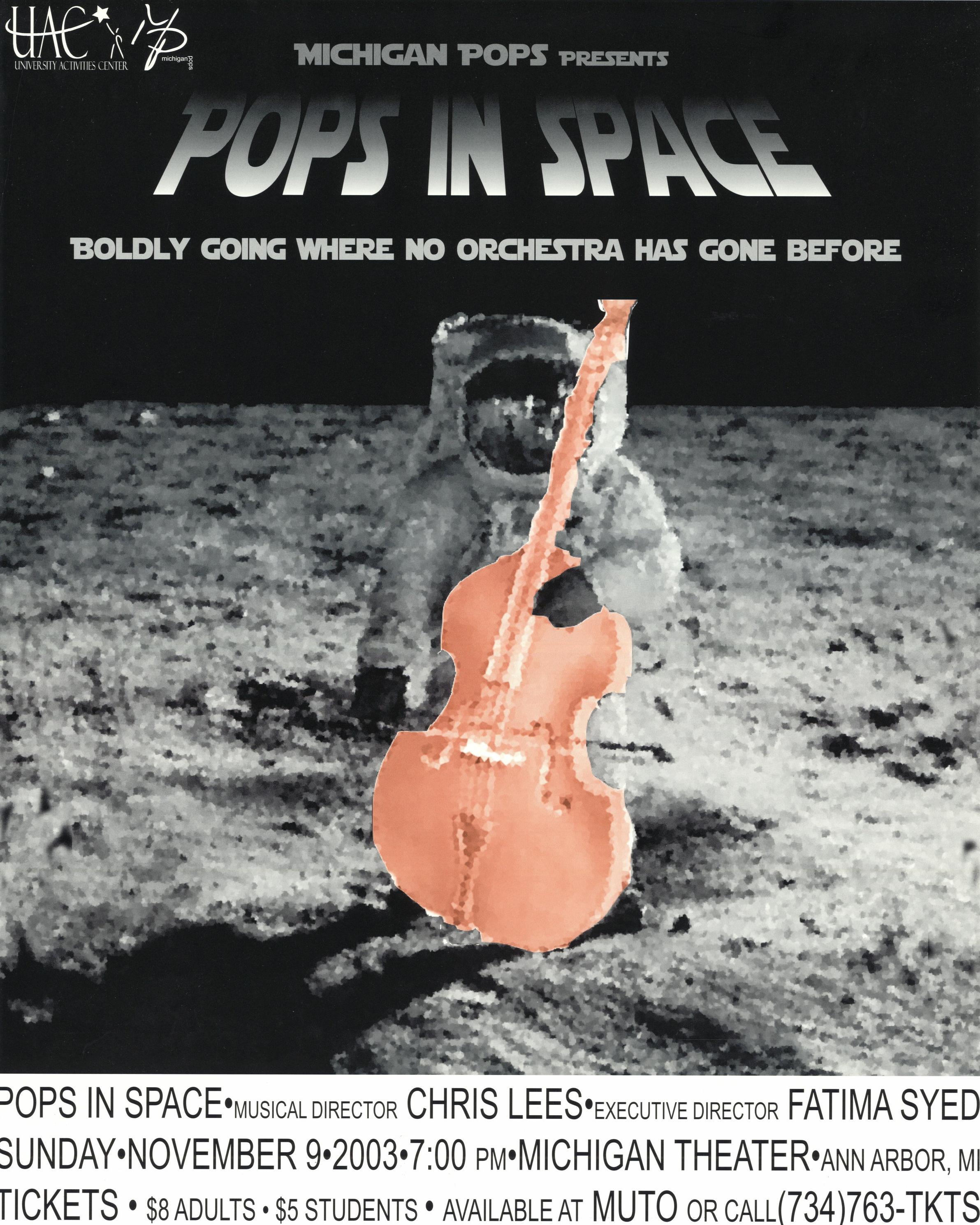 POPS IN SPACE  November 9, 2003