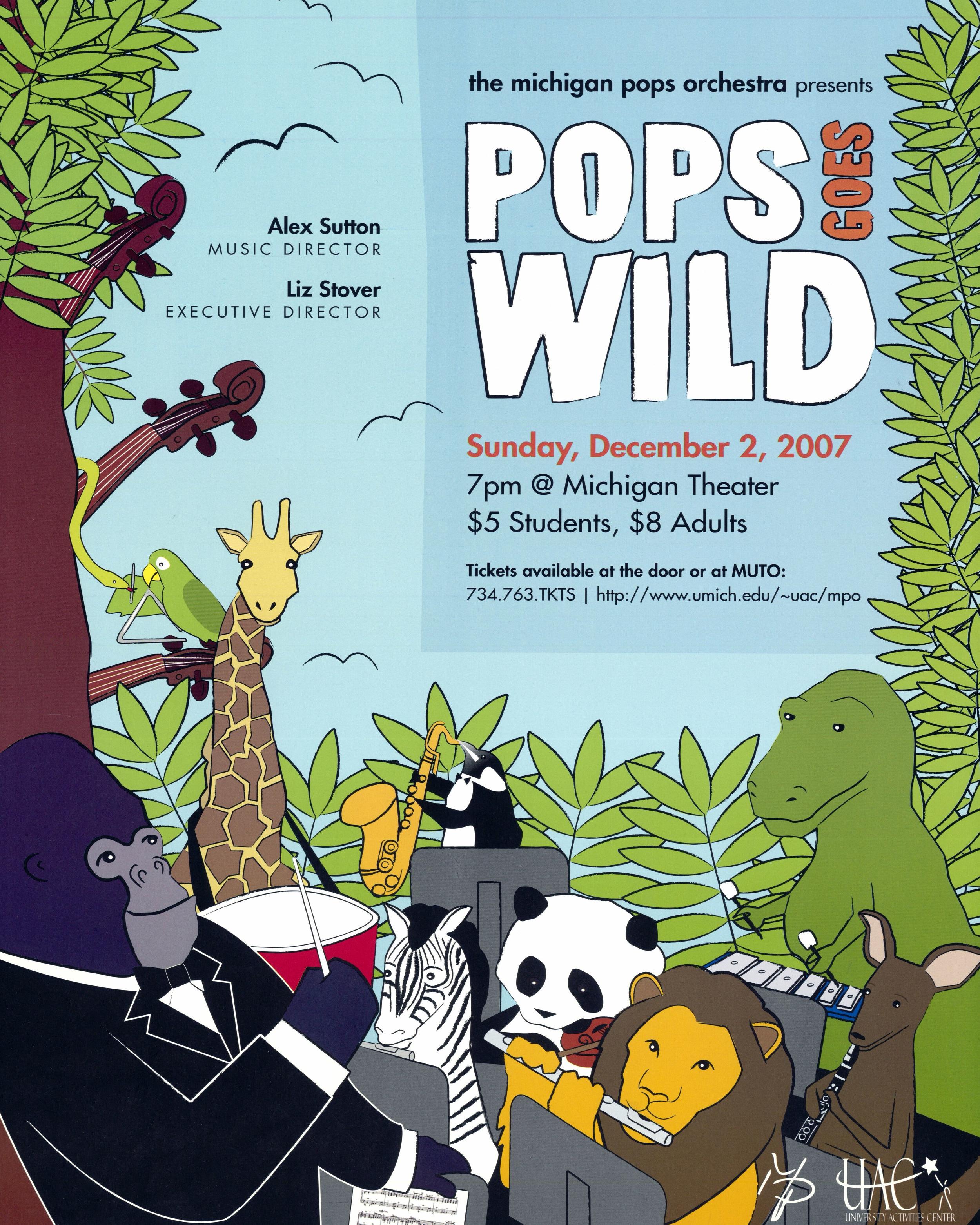 POPS GOES WILD  December 2, 2007