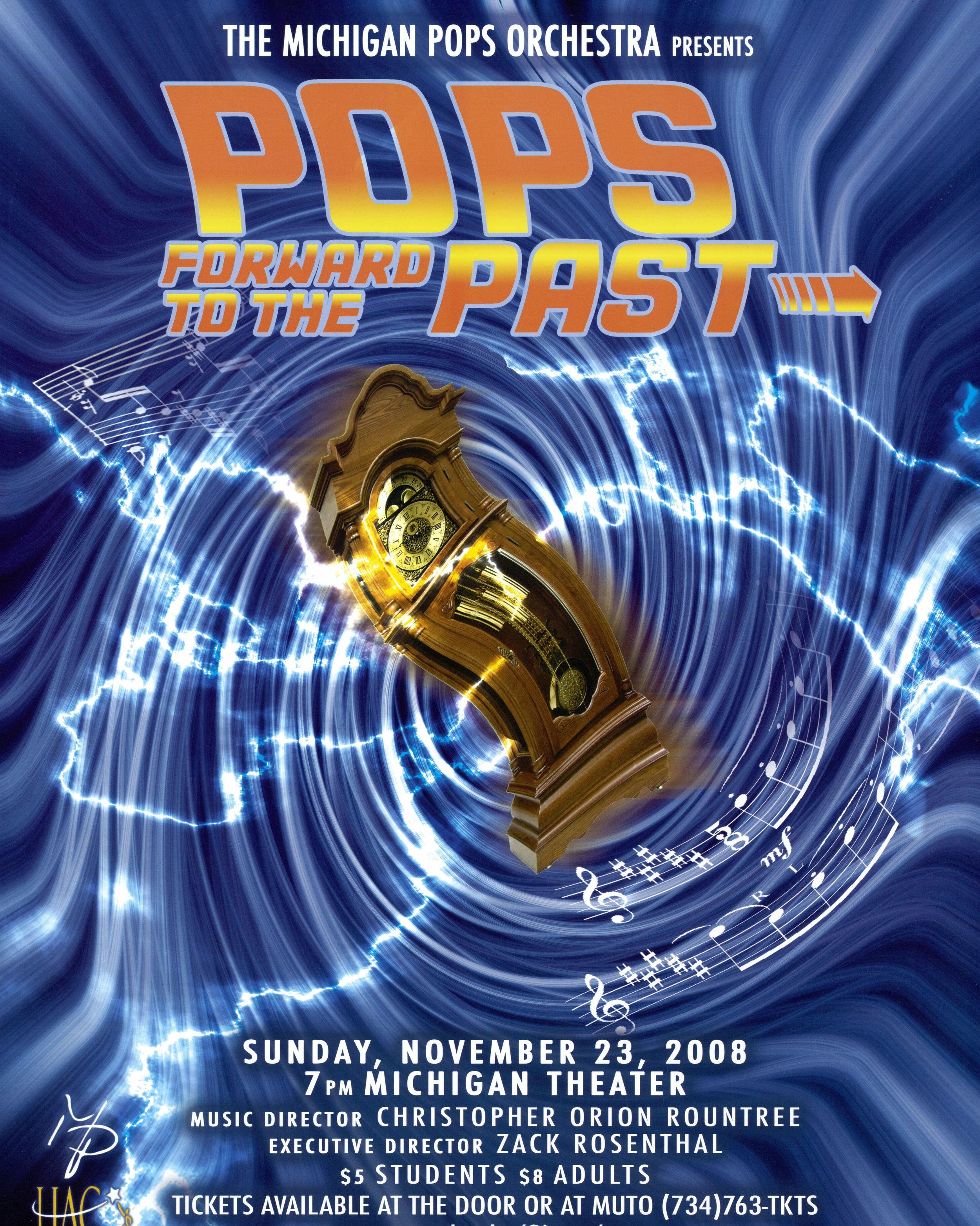 POPS FORWARD TO PAST  November 23, 2008
