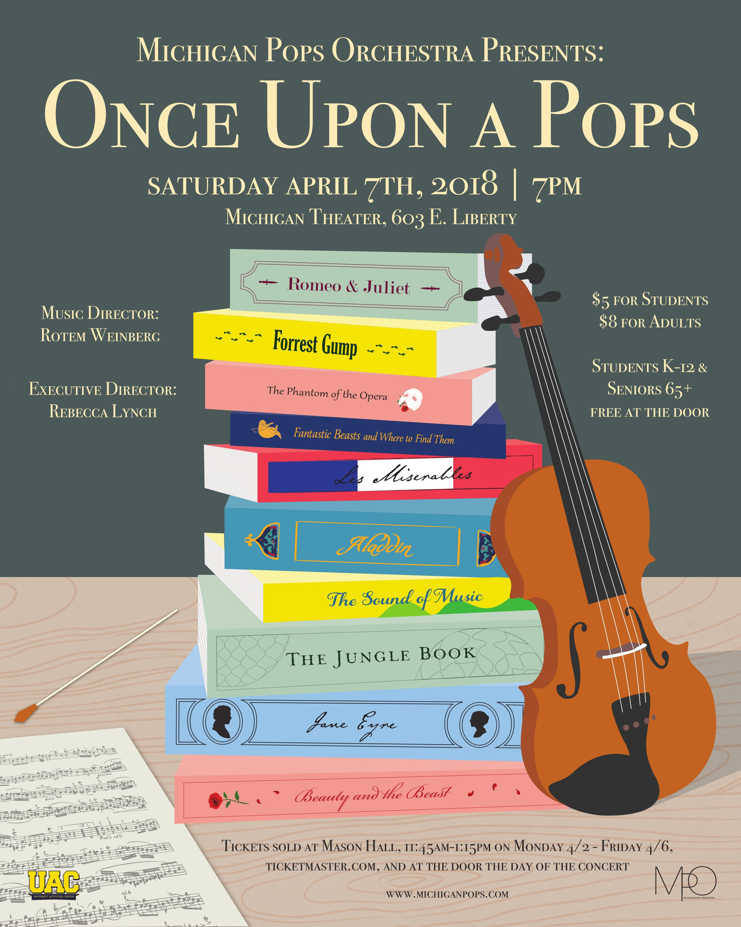 ONCE UPON A POPS  April 7, 2018*