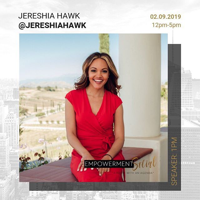 "Our next empowerment talk is Jereshia Hawk @jereshiahawk - ""From Climbing the Corporate Ladder to Launching a 6-figure Business"" . . . Jereshia Hawk went from leading $400 Million pipeline projects as an engineer to doubling her corporate salary and quitting her job within the first year of starting her online business. . . . She has helped hundreds of coaches, consultants and freelancers turn their side hustle selling services into six figure businesses through her proven program, Services That Sell. Hear her story and actionable tips on how she climbed the corporate ladder and launched a 6-figure business. . . . Join us for this empowerment talk at the next social on 2.9.19. Grab your tickets for the next event by going to theempowermentsocial.com or clicking the link in our profile. . . . #manifestyourself #theempowermentsocial #nyc #nycevents #dayparty #professionals #fortheculture #experience #networking #blackprofessionals #blackandeducated"