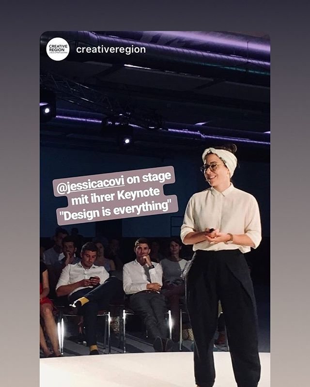 Thank you so much @creativeregion for this great evening yesterday! It was a delight talking about design and visit Linz! See you again soon! @tabakfabriklinz