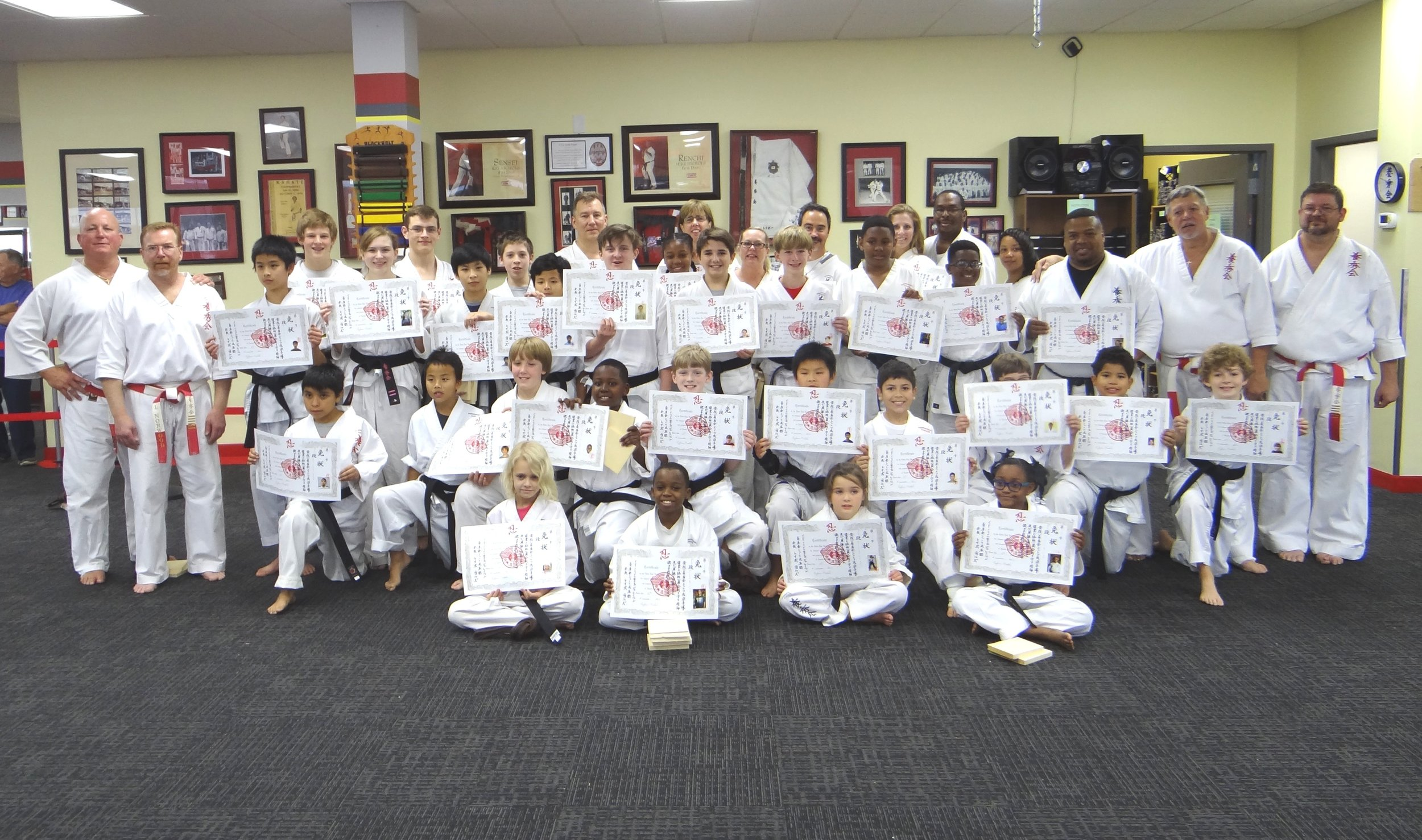 November 18, 2017 Black Belt test