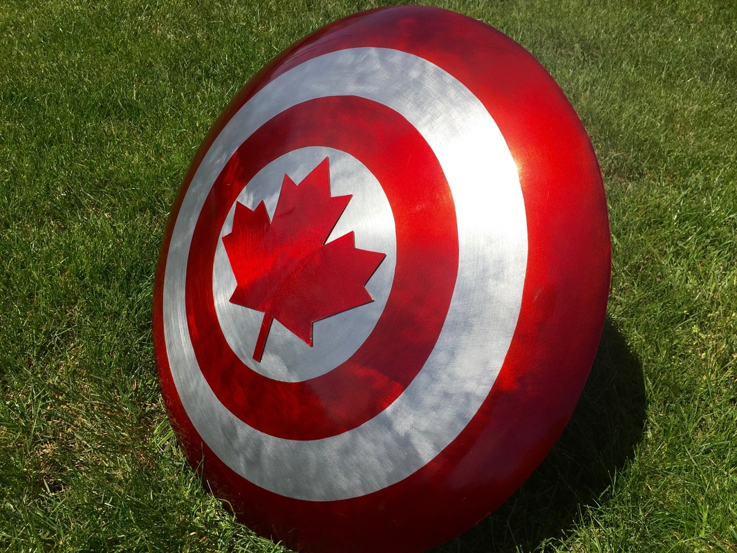 """Captain Canada"" inspired shield."