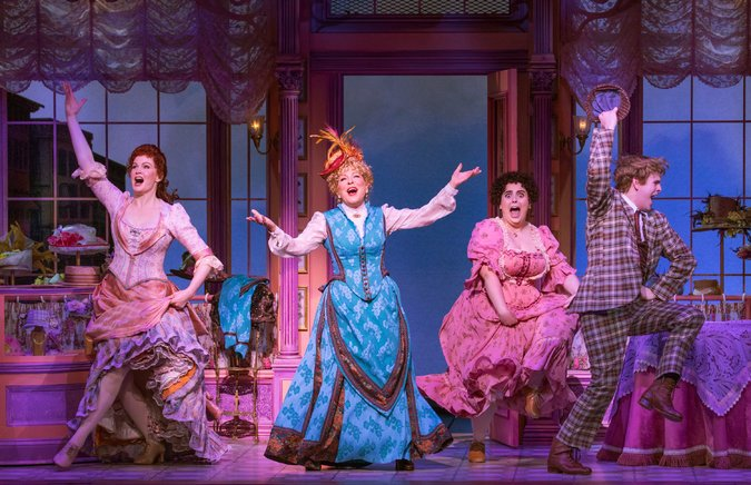 Bette Midler's Hello Dolly on Broadway : Shubert Theatre  Construction of Hat Shop and Train