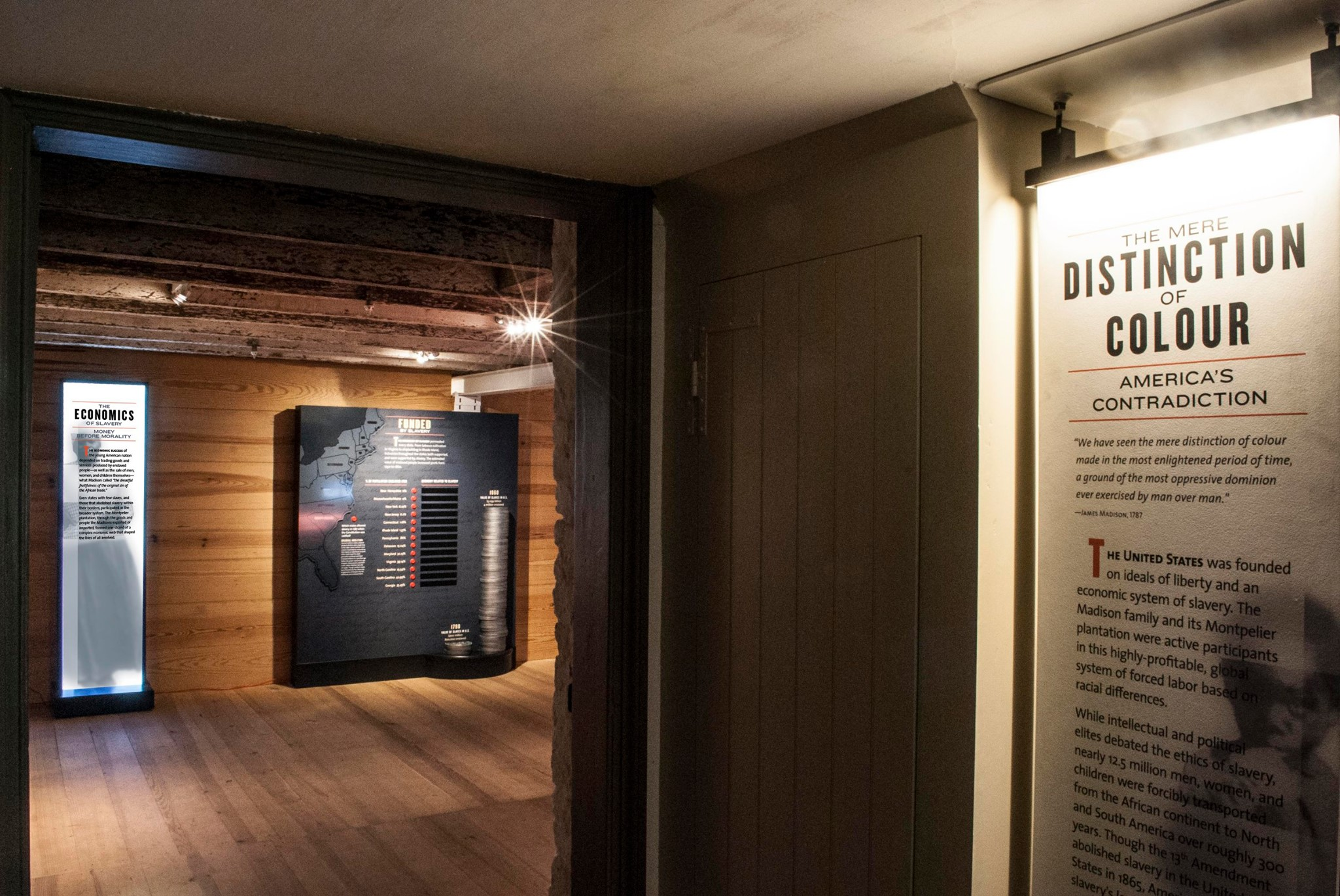 """The exhibit is an interactive walk through and account of what Montpelier describes as """"A more complete American story"""""""
