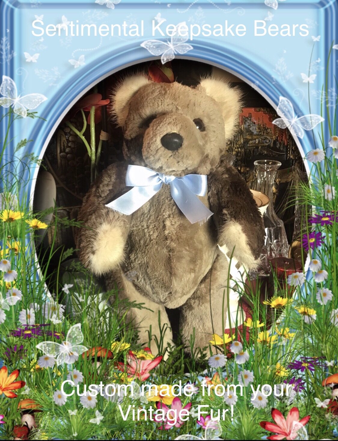 Sheared Phantom Beaver Coat restyled into a wonderful Sentimental Keepsake!
