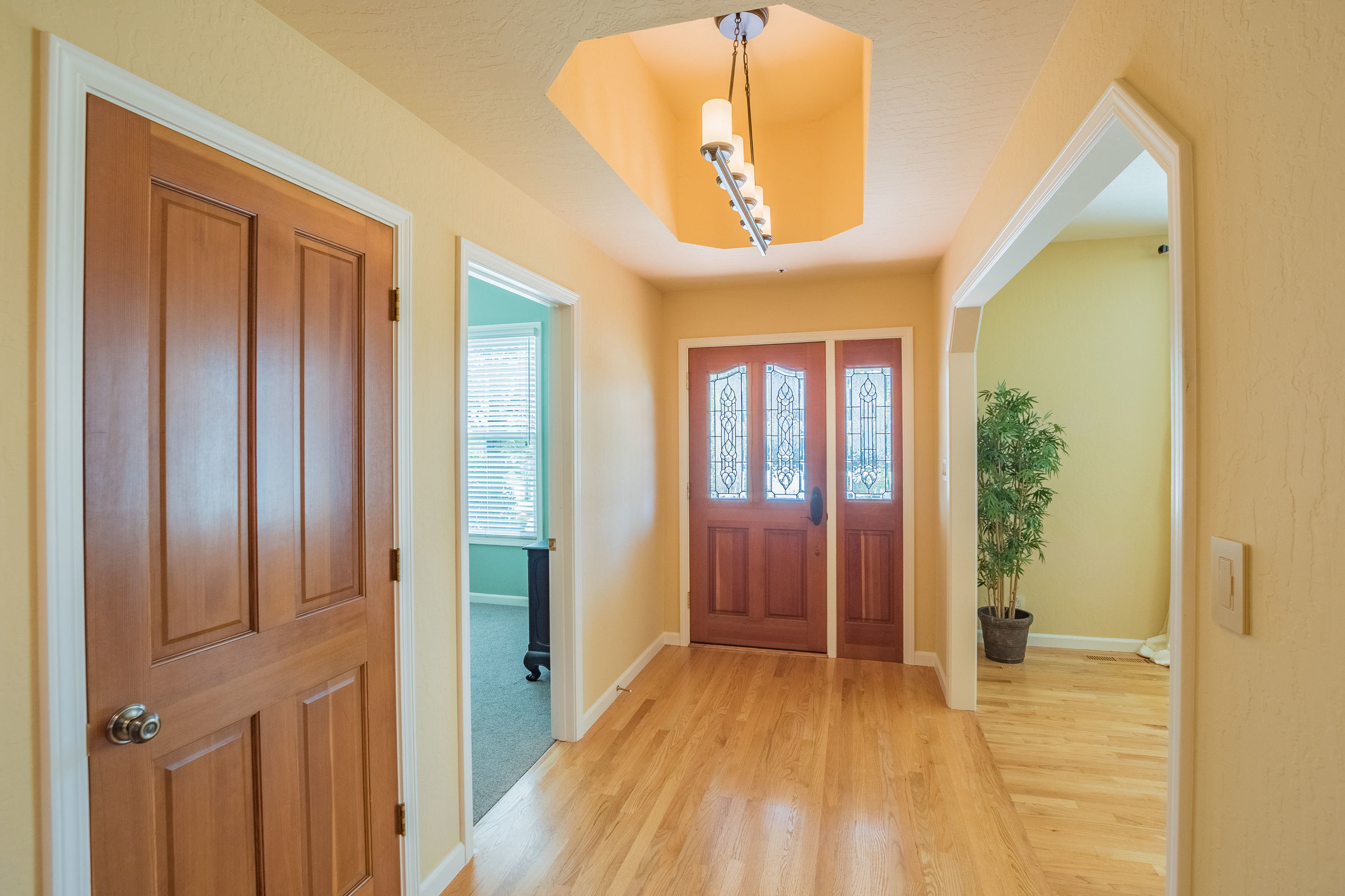 Hardwood Floors Natural Light Foyer