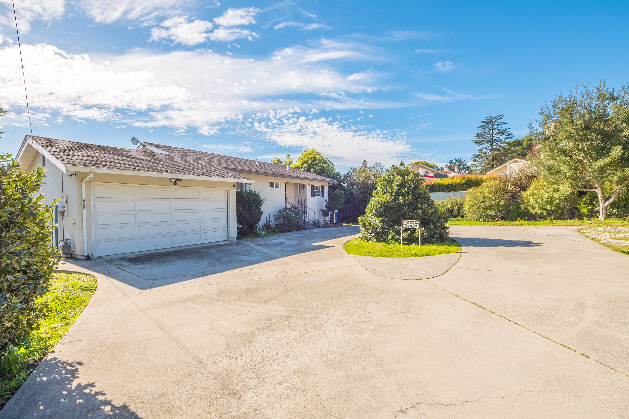 Large Driveway and Two-Car Garage Westside Santa Cruz Real Estate.jpg