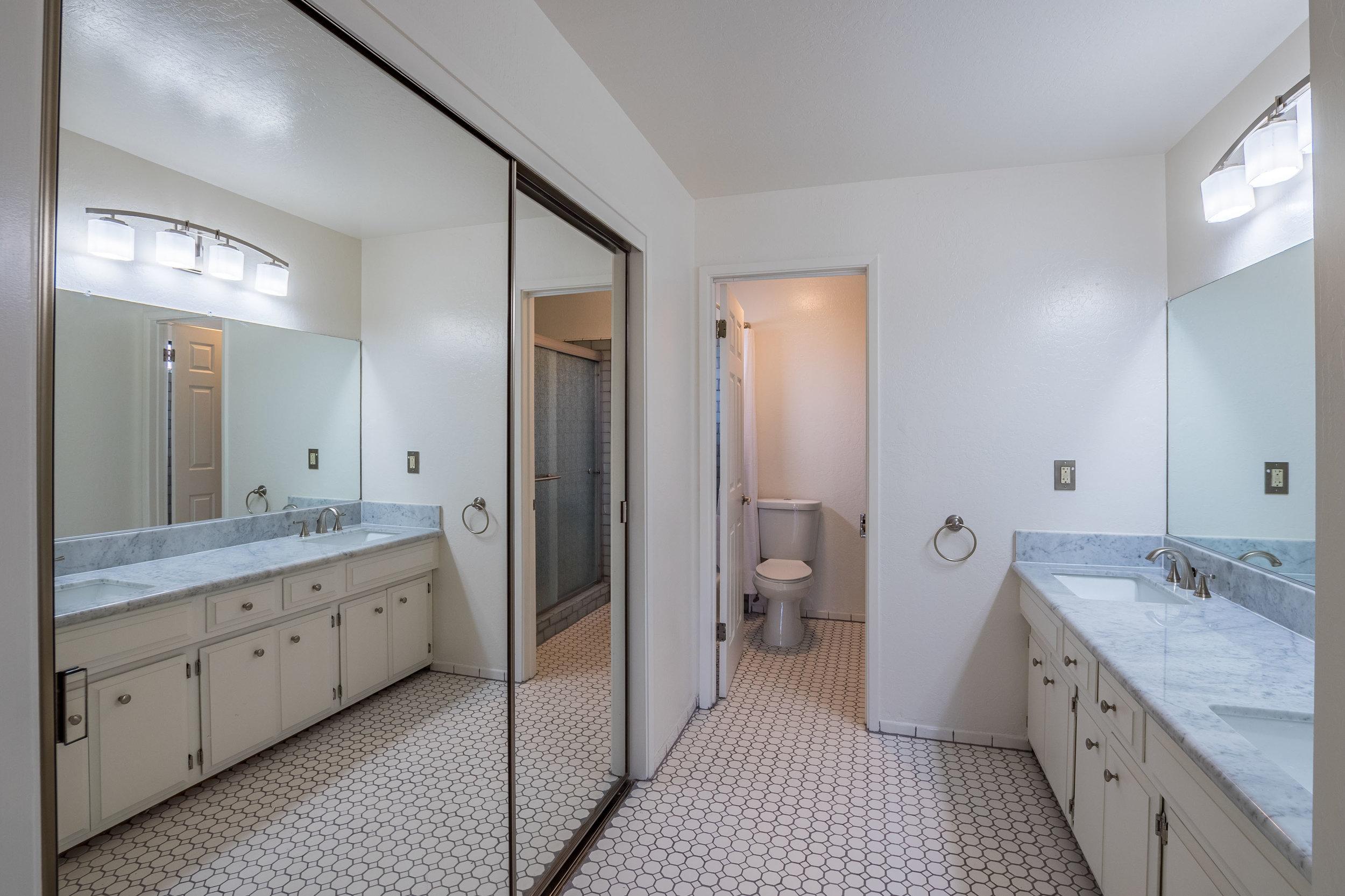 Master Bathroom with Large Closet
