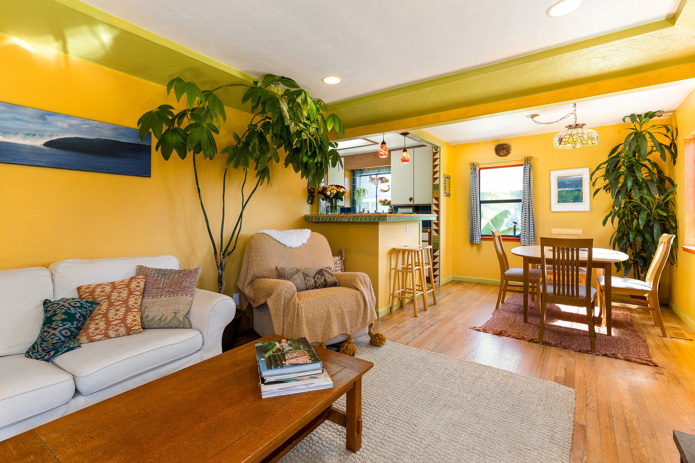Natural Light and Hardwood Floors Santa Cruz Realtor