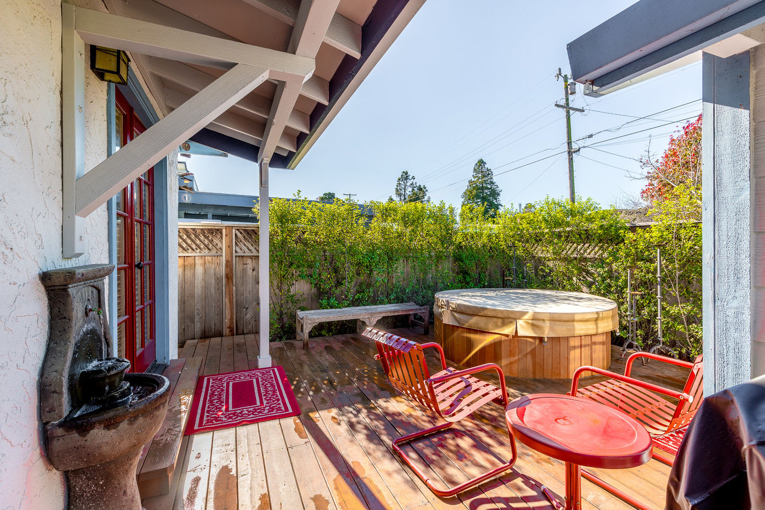 Backyard Deck with Hottub