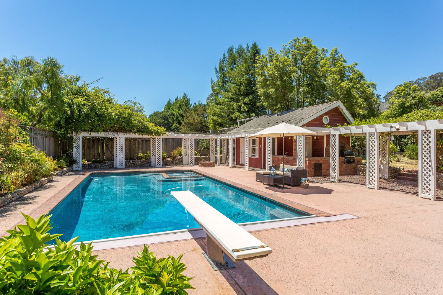 Large Landscaped Yard with Pool Upper Westside Santa Cruz Houses