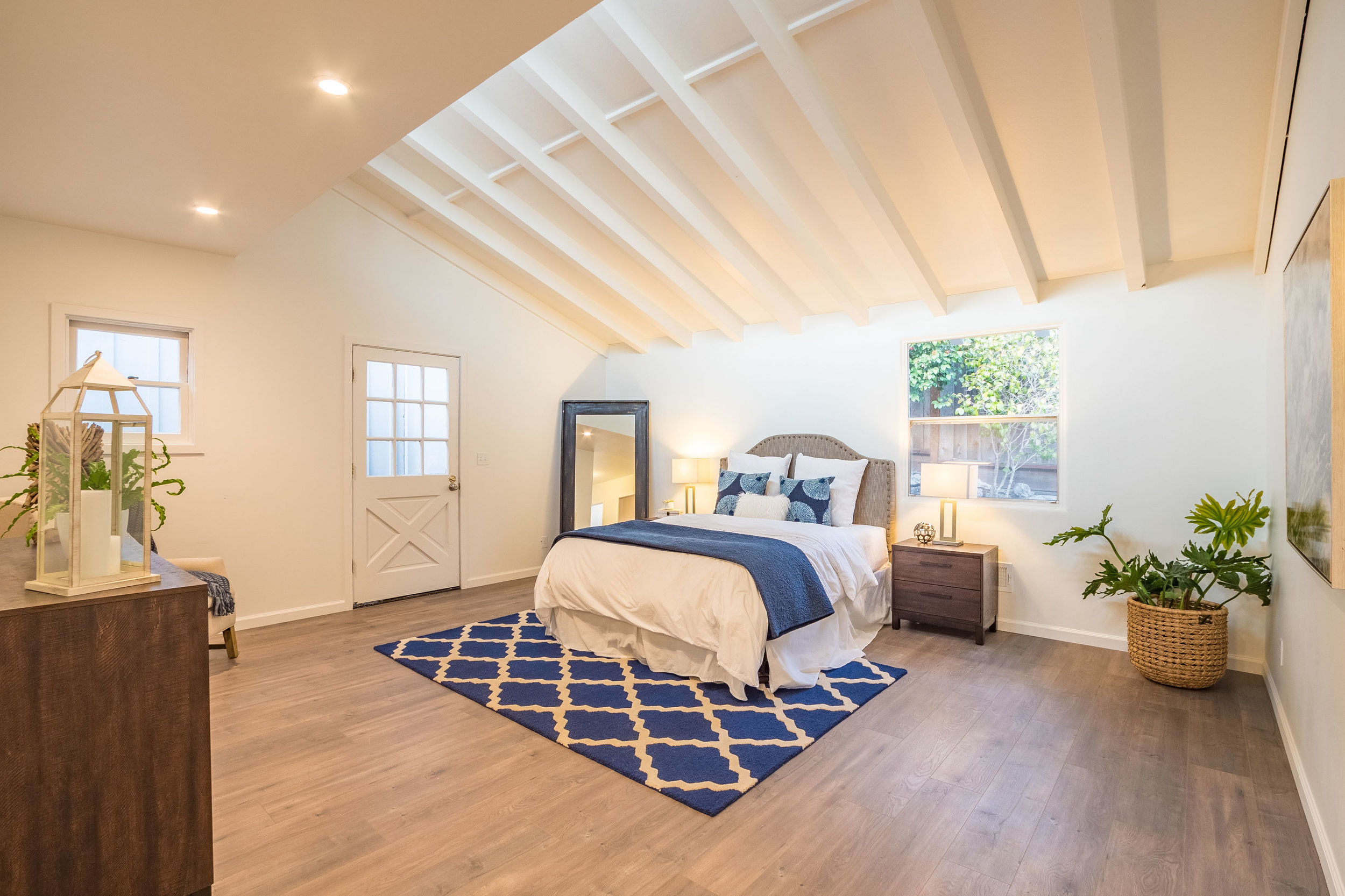 Master Bedroom with Vaulted Ceilings