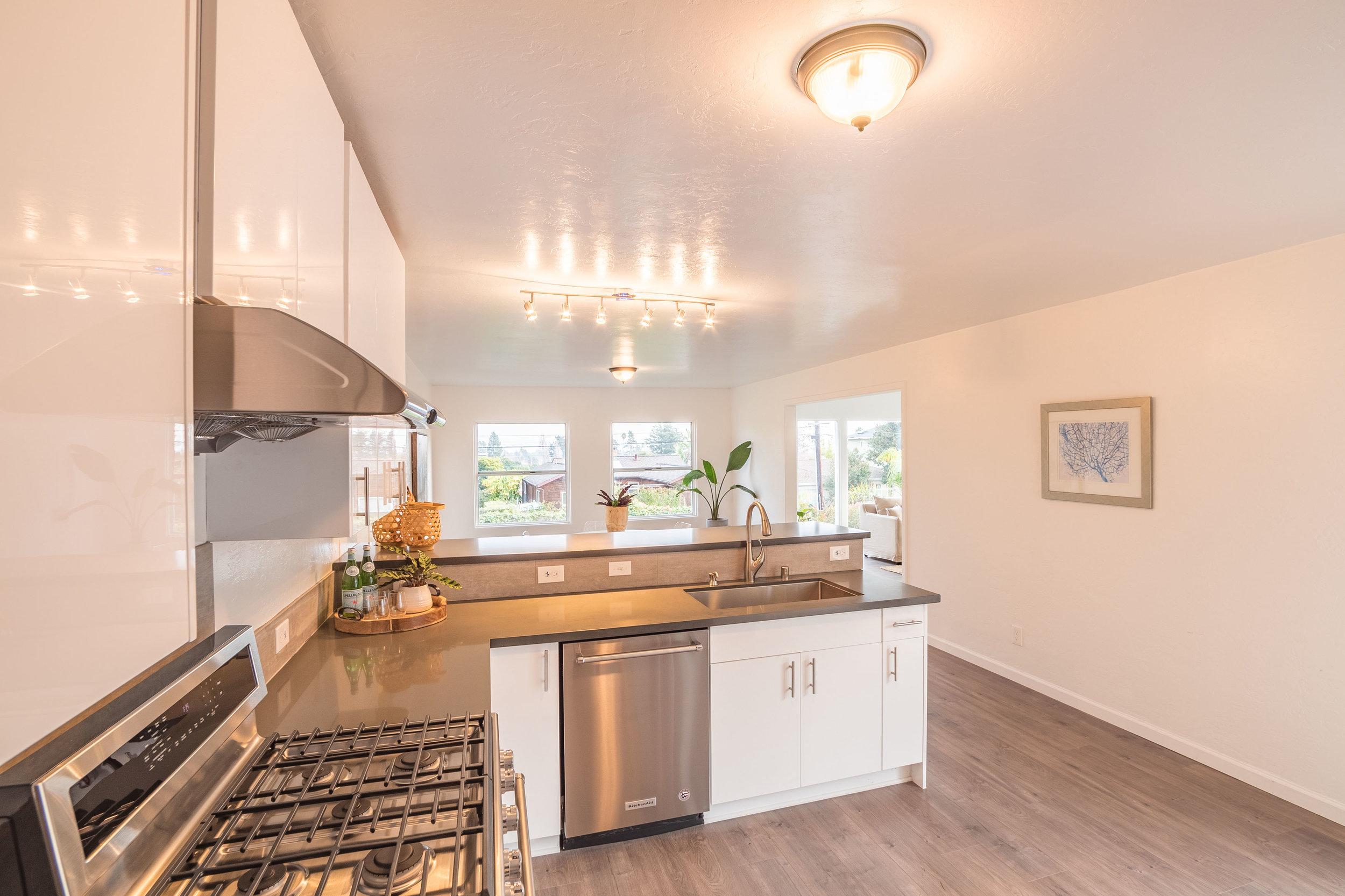 Santa Cruz Home with Remodeled Kitchen