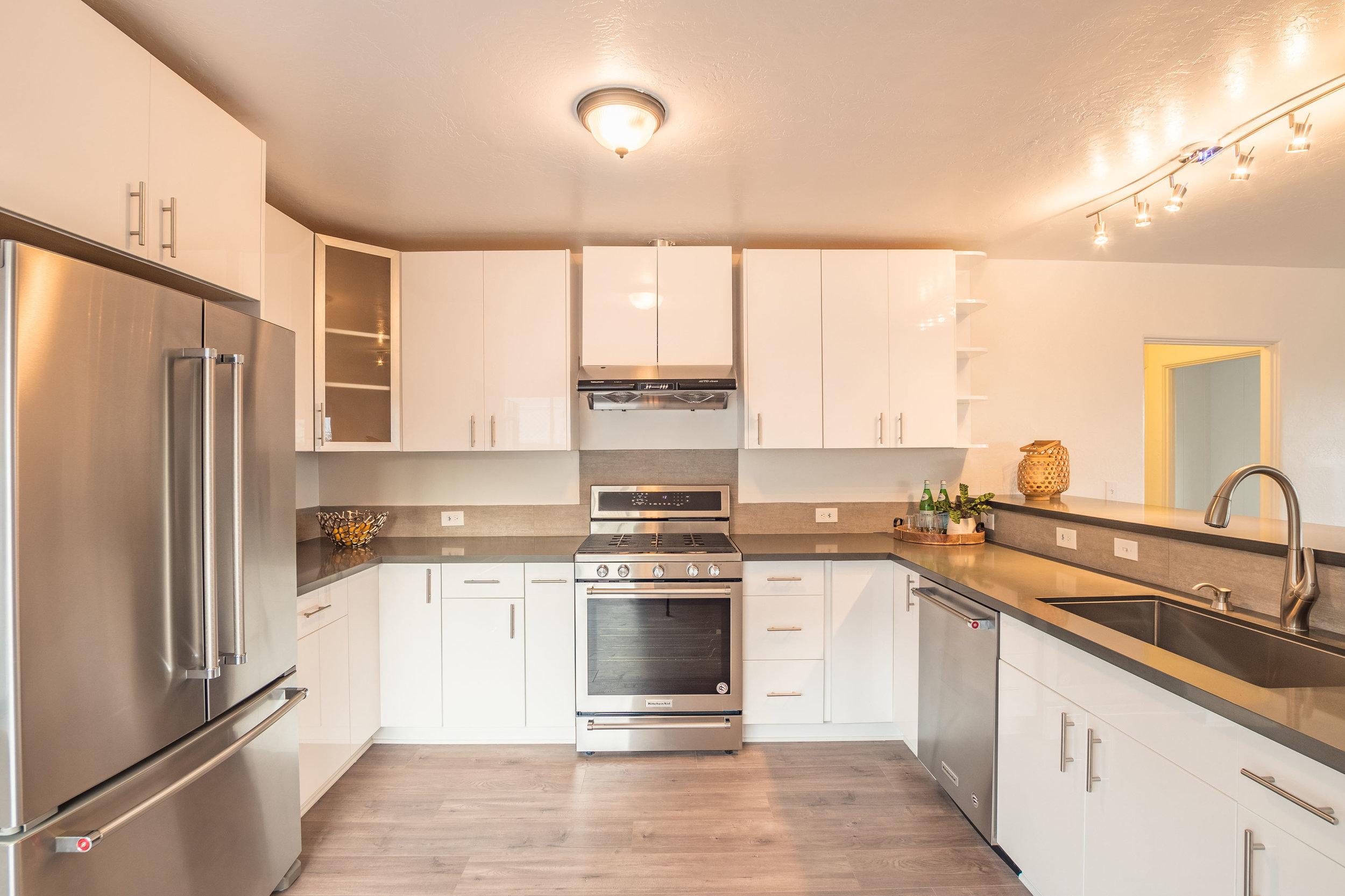 Updated Kitchen with Stainless Steel Appliances Santa Cruz Homes