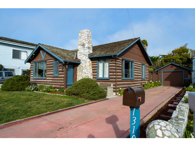 Log Cabin on West Cliff Drive, Santa Cruz