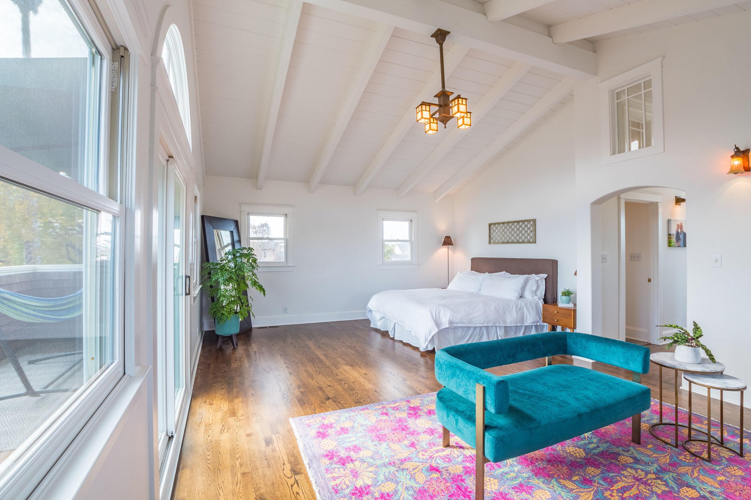Vaulted Ceilings in Master Bedroom Lower Westside, Santa Cruz