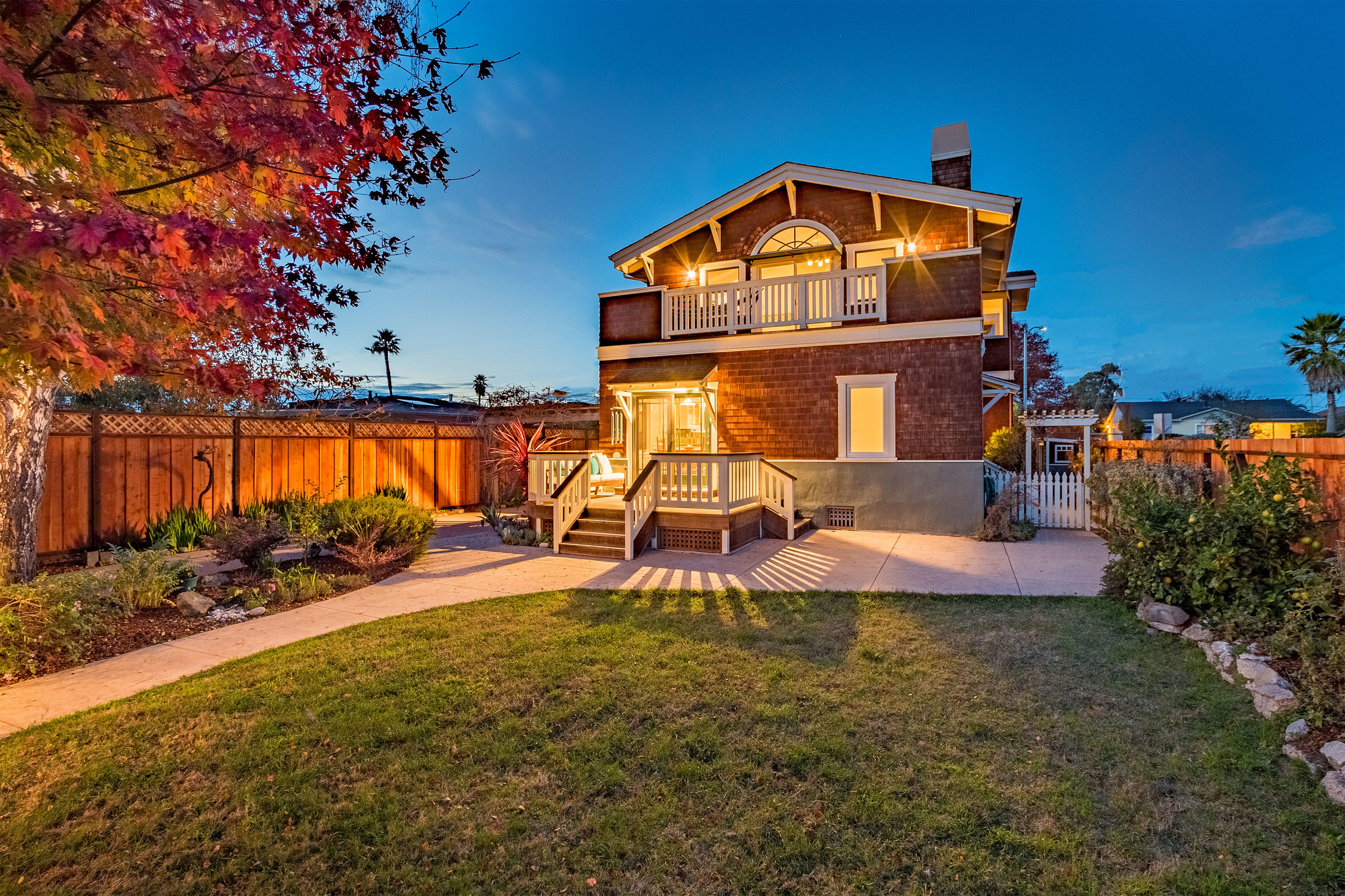 Patio and Grassy Area Santa Cruz Home