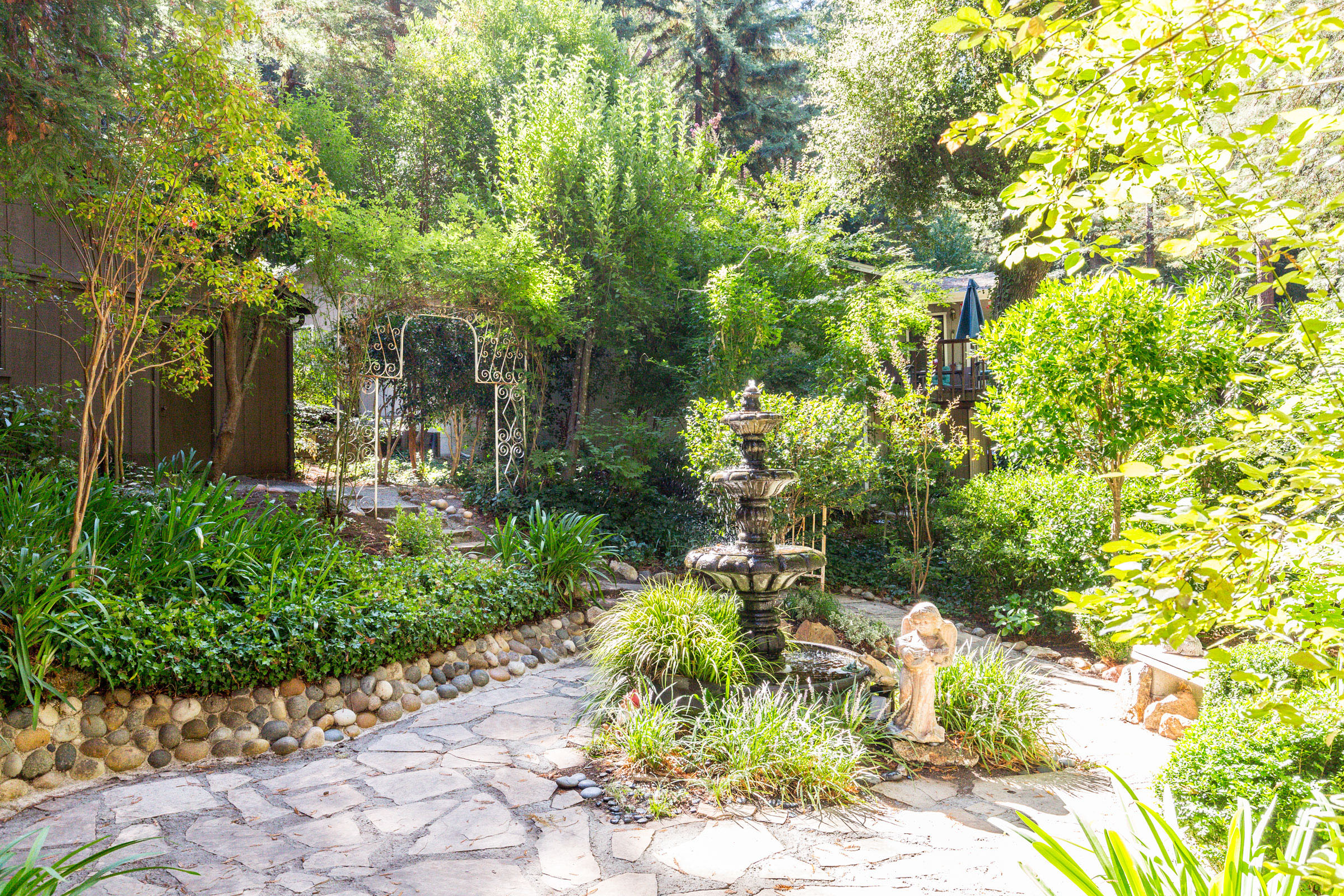 Landscaped Yard Santa Cruz, California