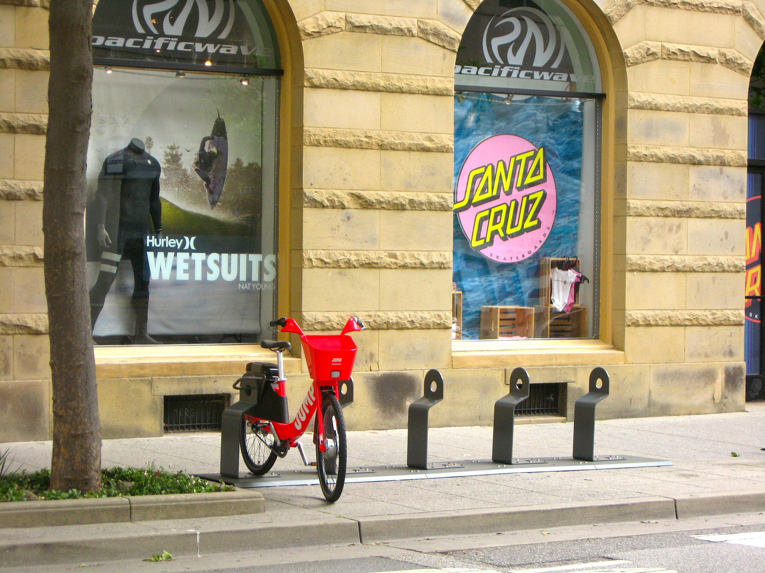 Jumpbike Downtown Santa Cruz.