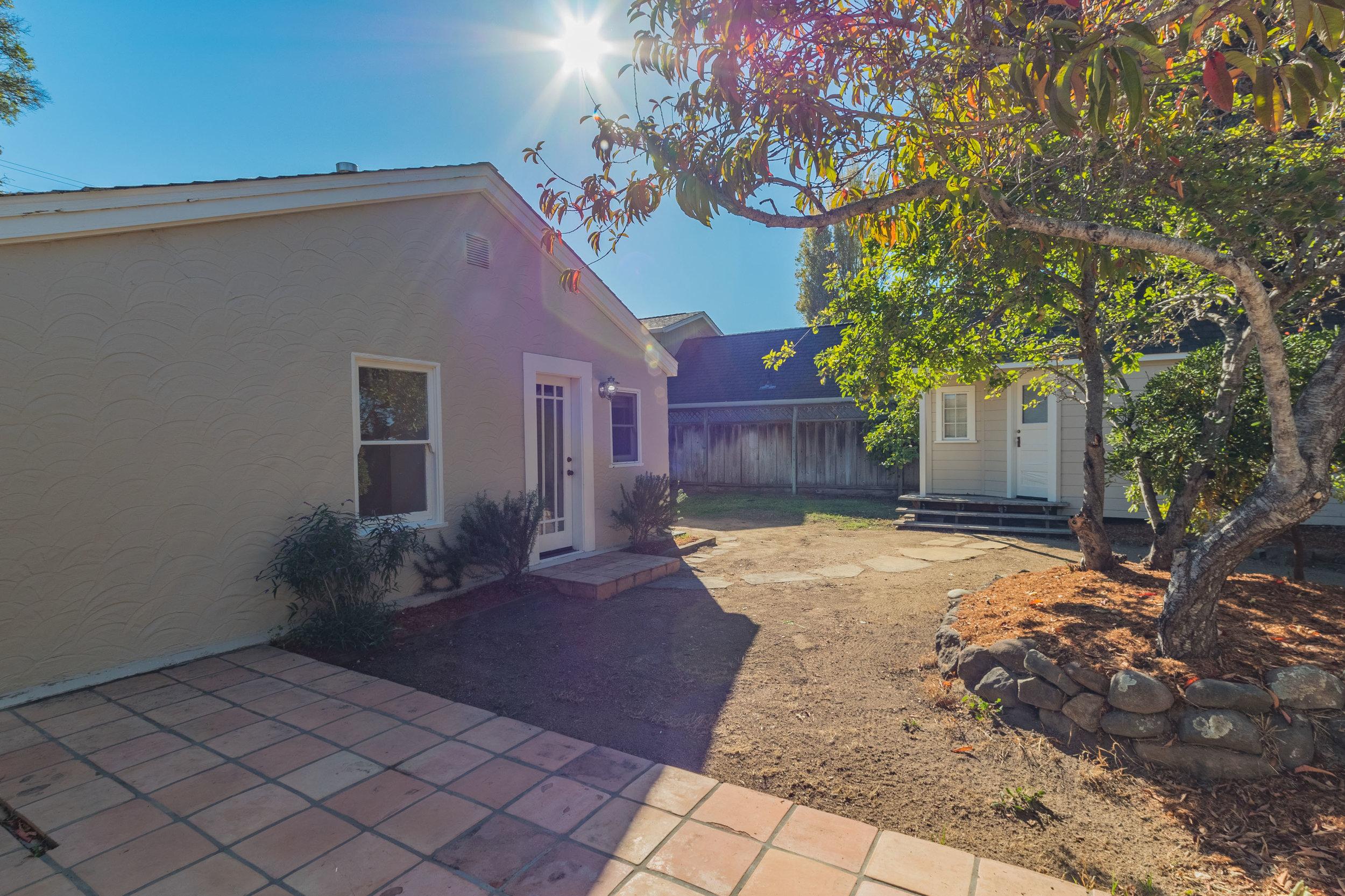 Sunny Backyard Santa Cruz Realtor
