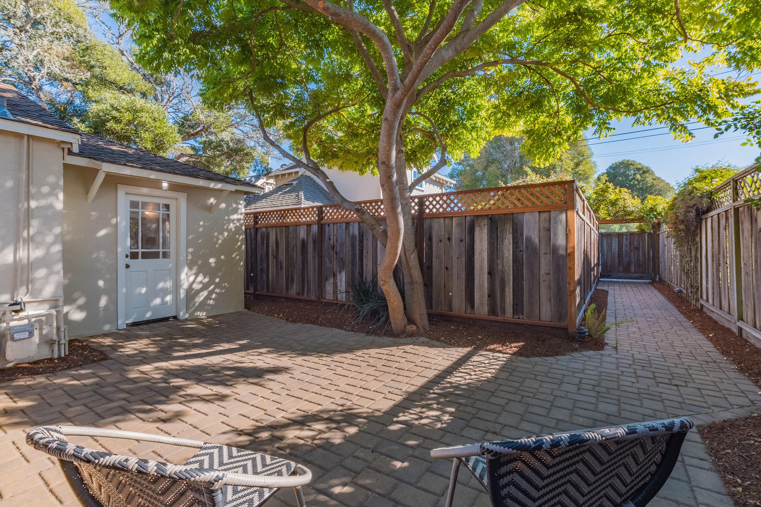 Backyard Patio with Shade