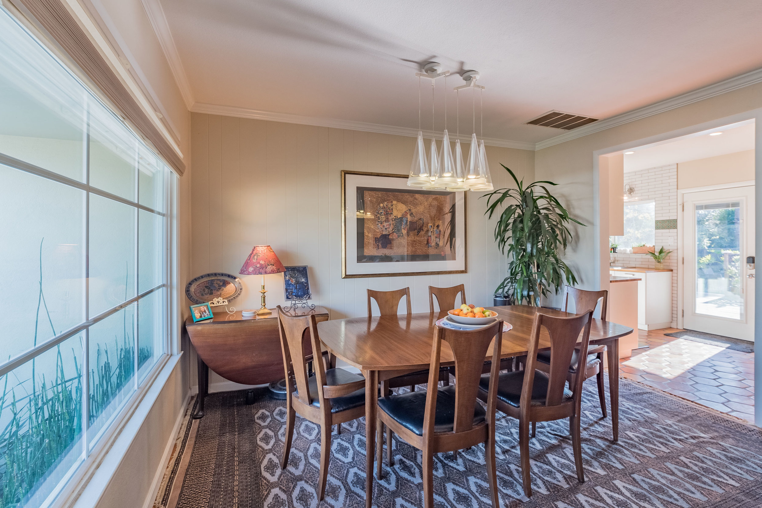 Dining Room with Natural Light