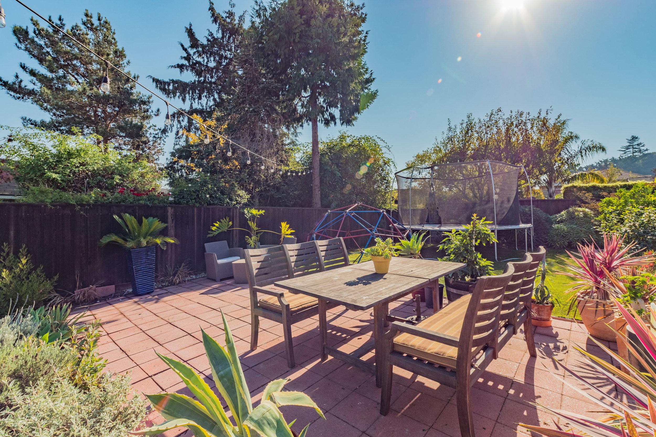 Sunny Backyard Santa Cruz Real Estate Agents