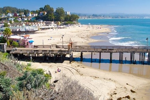 capitola beach - With sandy shores and calmer water Capitola Beach is a popular choice for both locals and vacationers. On the far right side of Capitola beach you'll find Capitola Wharf. The wharf is home to the Wharf House Restaurant and is a popular spot for fishing. Adjacent to the beach is Capitola Village which means boutique shops and dining are just steps away.