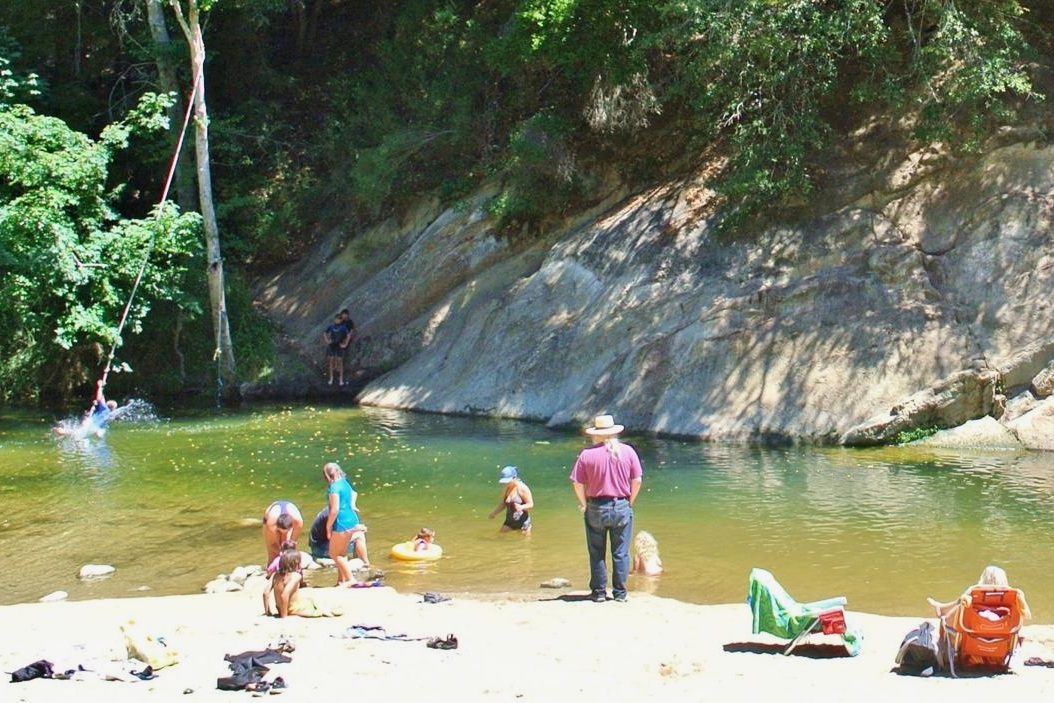 junction park - Junction Park, located in Boulder Creek, is the popular neighborhood swimming hole. With a sandy beach, easy access to the river, a manicured lawn, and picnic areas it is the perfect spot to spend a hot summer day.