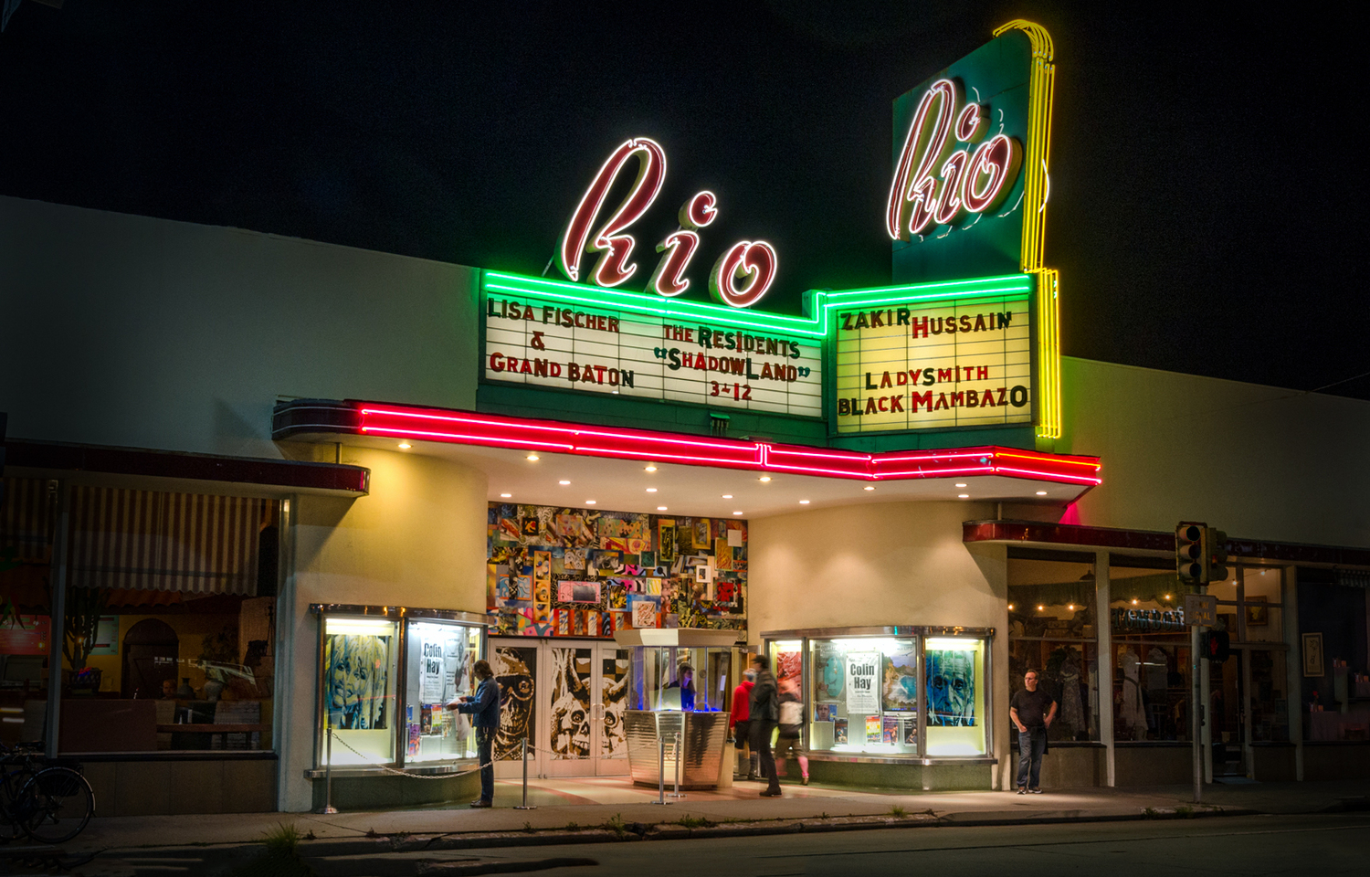 rio theatre - One of the better entertainment venues in Santa Cruz, the Rio Theater hosts concerts, stand-up comedy, lectures, movies, and plays. The Rio has live entertainment throughout the year and tends to draw more recognizable musical and comedy acts than other places in Santa Cruz. Since the theater is so close to both Seabright and Downtown, it's a perfect place to catch a show after dinner.