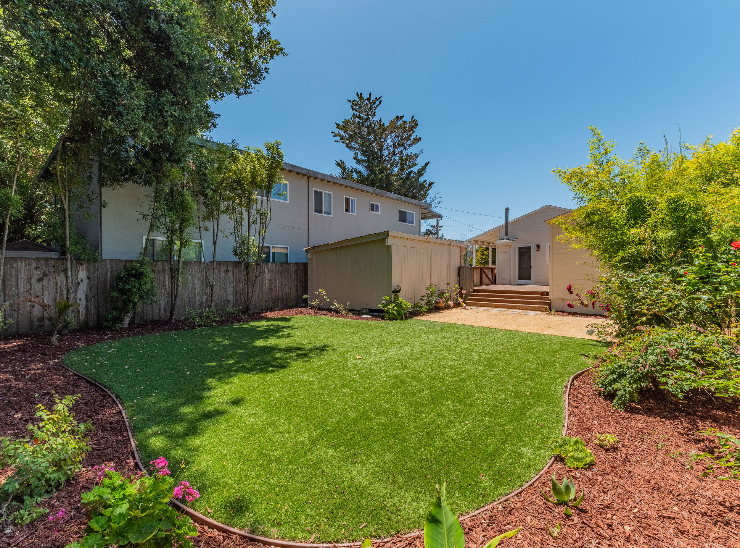 Landscaped Backyard in Capitola