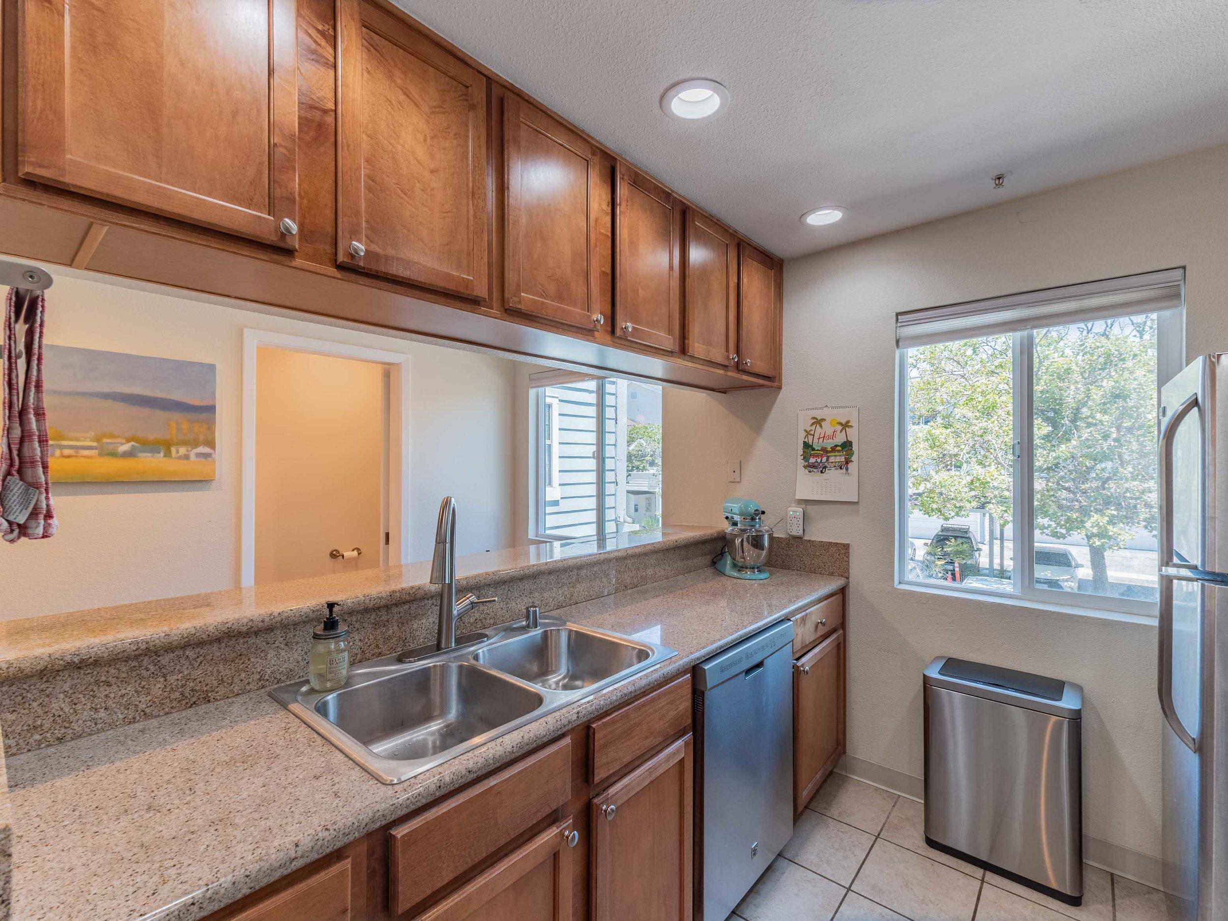 Bright kitchen Westside condo