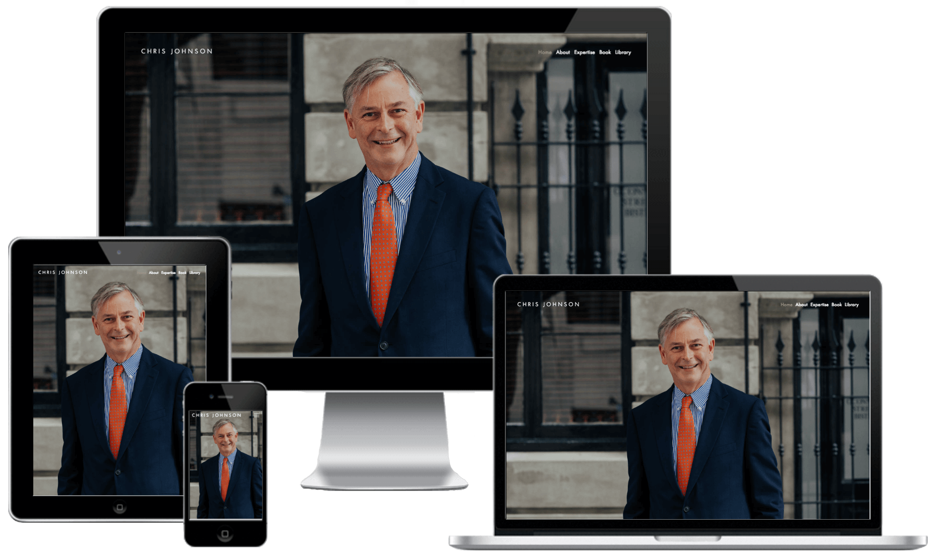 Branded Website - The final product we created was a fully-responsive business website, which showcases Chris' expertise in a way that immediately communicates his unique brand and value proposition to any visitor. Check it out and get to know Chris Johnson here.