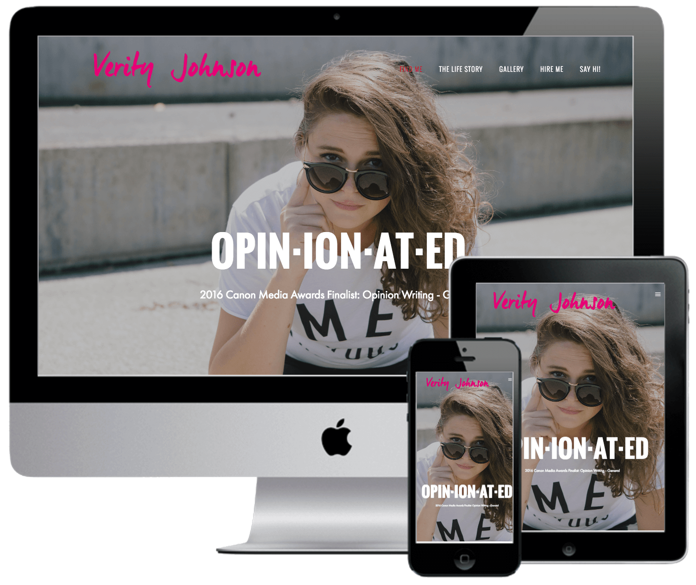 Branded Website - The final product we created was a fully-responsive personal website, which showcases Verity's creative work in a way that immediately communicates her unique brand and value proposition to any visitor. Check it out and get to know Verity Johnson here.