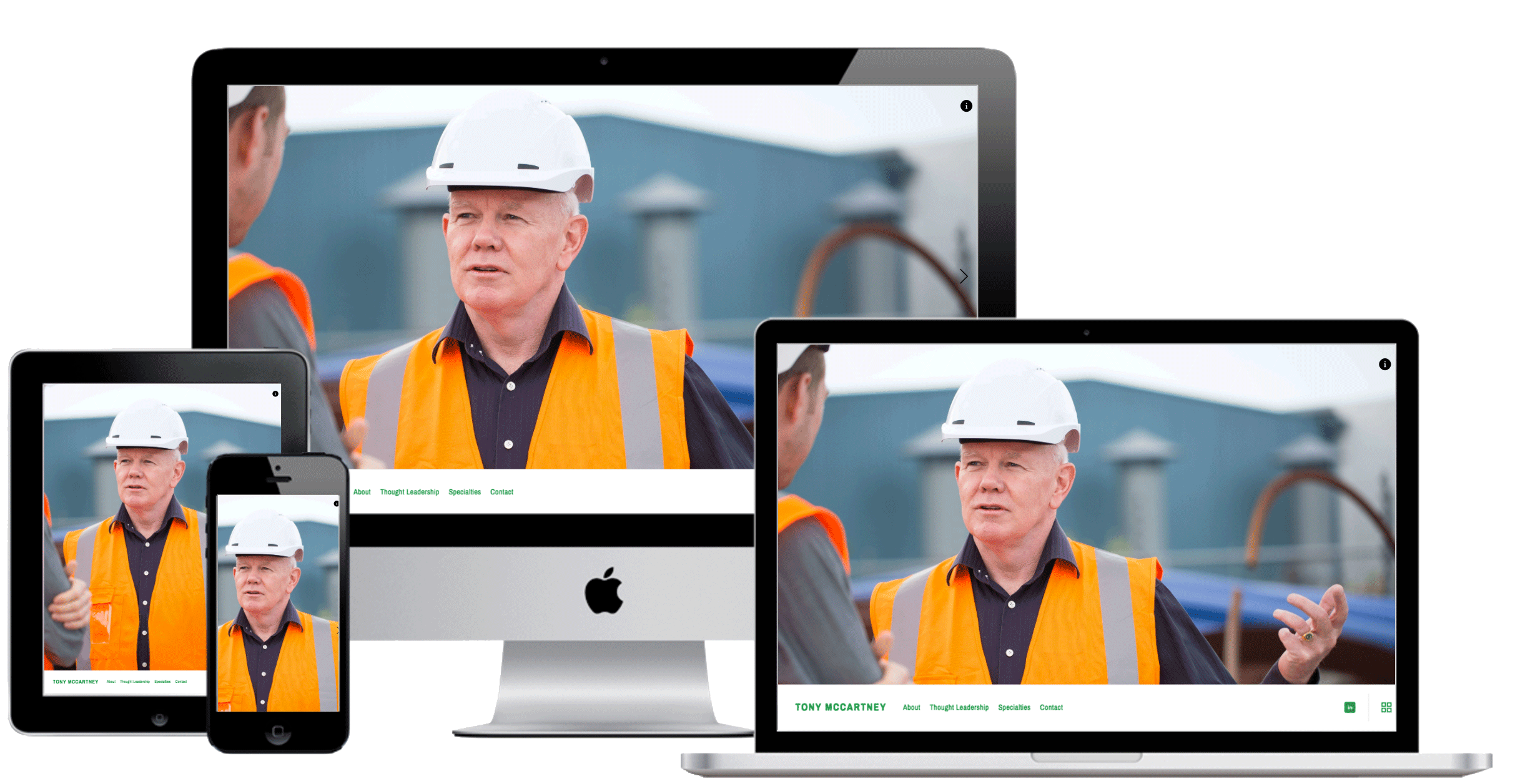 Branded Website - The final product we created was a fully-responsive personal website, which showcases Tony's expertise in a way that immediately communicates his unique brand and value proposition to any visitor. Check it out and get to know Tony McCartney here.