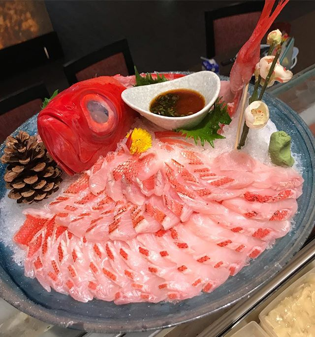 Celebrate Family Day at Toku with A Whole  Fish Kinme Tai 金目鯛 きんめだい 大好きです!