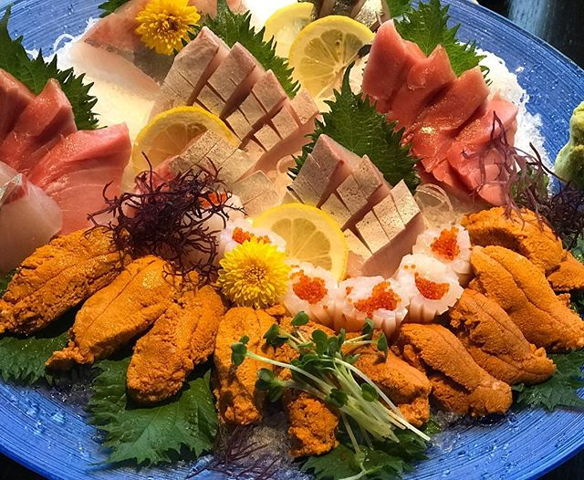 Sea Urchin (Uni)うに has a great source of protein, rich in dietary fibre, vitamin C and A. Season is ending soon, is time to grab a piece at Toku!