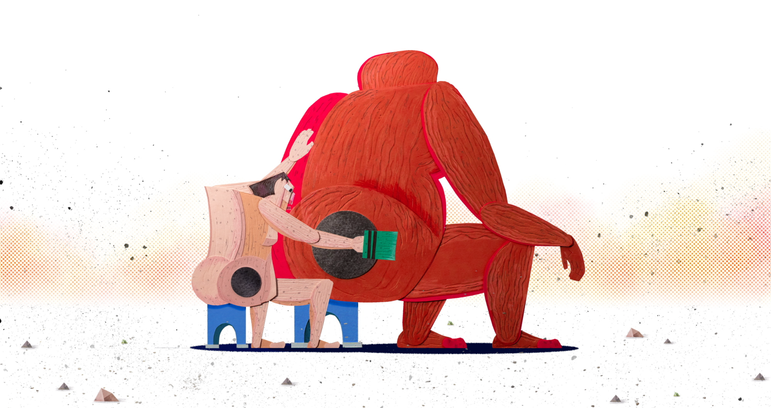 Jeom   Director/Writer: Kangmin Kim // Producer: Open the Portal // USA   A father and son both have the same birthmark on their butt. Believing that the two birthmarks are connected, the son scrubs his father's birthmark to remove it - but he just can't seem to get rid of it.
