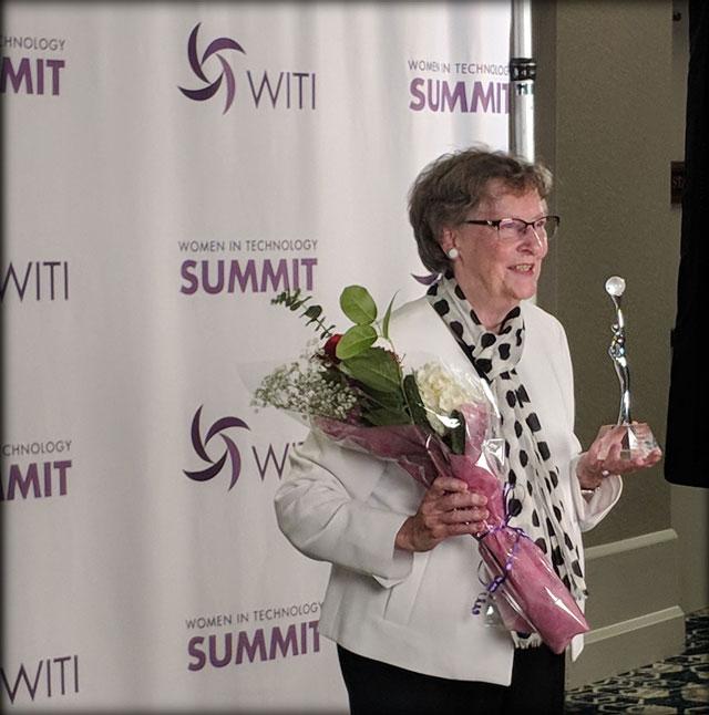 "Elizabeth ""Jake"" Feinler @ the WITI Summit 2018, San Jose, Calif."