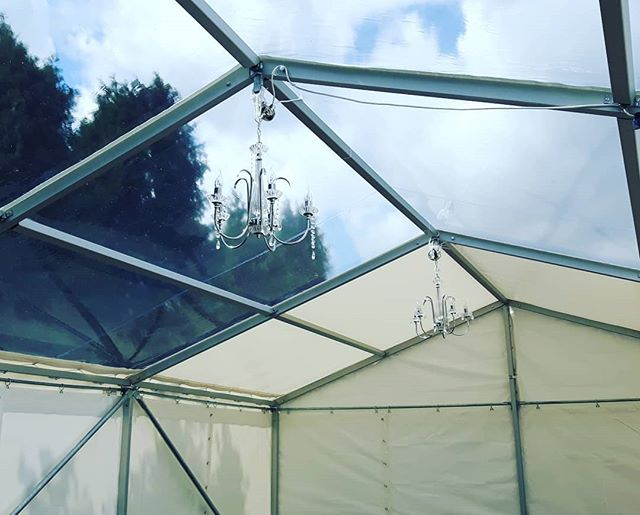 Is that clear enough for you?  Marquee midway through set up.  We invest heavily in our stock and take care even when in not in use. A lot goes into caring for a clients in the background.  Dont risk having a dirty marquee for your  special event.  Let us transform your vision and take the headache away.