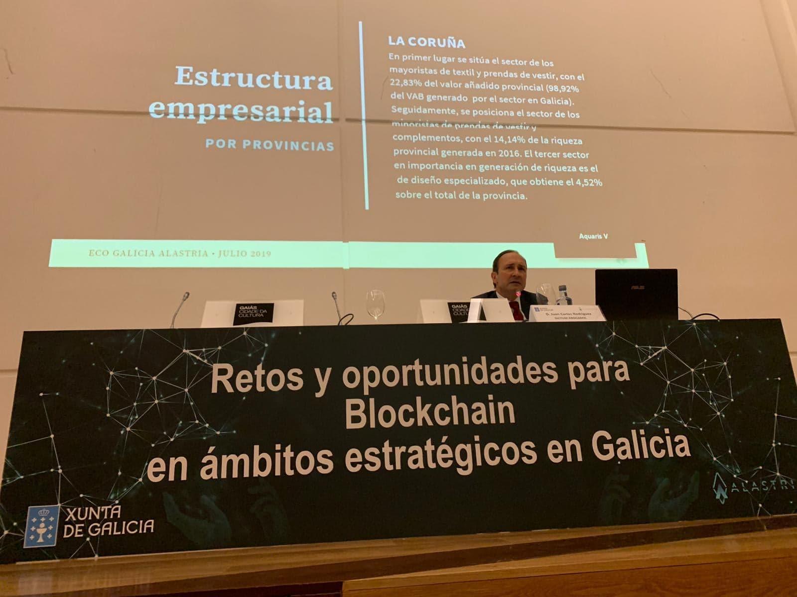Juan Carlos Rodríguez Maseda, durante su presentación.