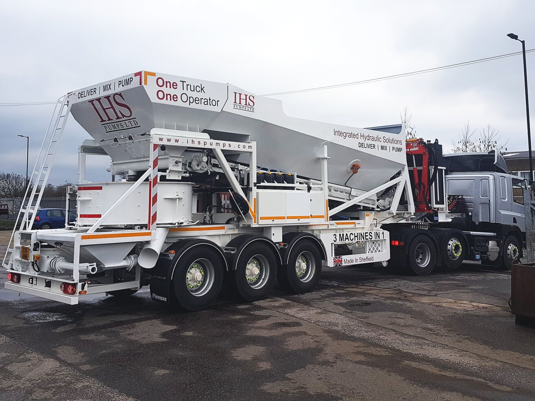 8.5m³ All in one trailer -