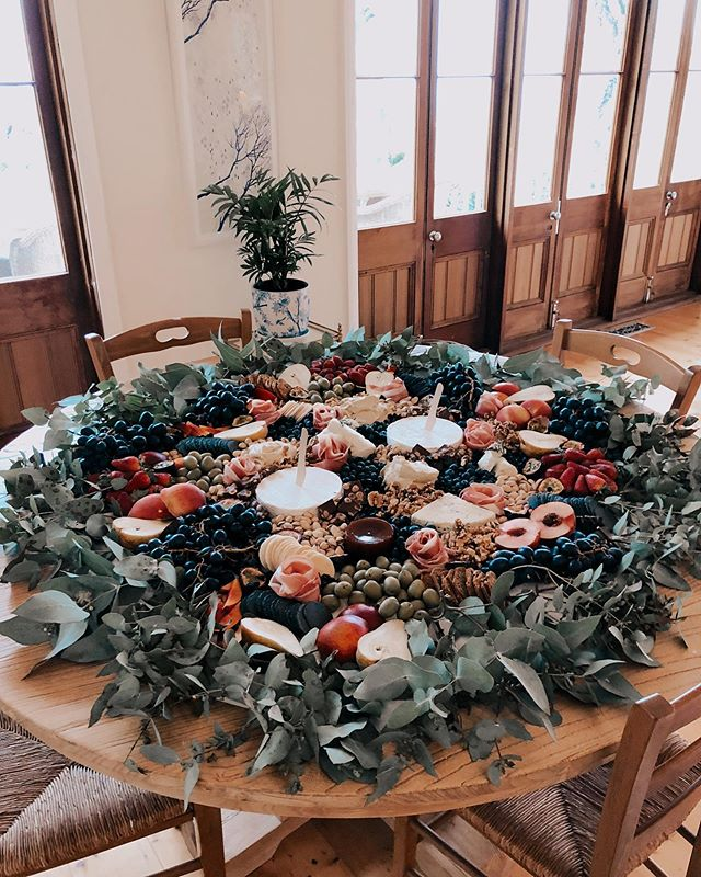 Our 1 Metre Grazing Table looking beautiful in a circle. I love when our clients have new ideas for the look they want. Let us know how we can help.