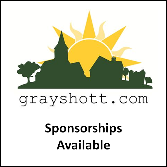 Would your business or organisation like to help sponsor Grayshott.com? The site is run by volunteers and it is only through our generous sponsors that the site can remain online. Please contact us if you would like to learn more about becoming a sponsor. Thanks!